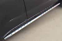 Пороги труба с проступью Chevrolet Trailblazer 2013 (75*42)