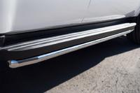 Пороги труба Chevrolet Tahoe 2012 (d42)