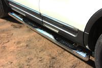 Пороги труба с накладками Ford Explorer 2012 (d76) #3