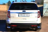 Защита заднего бампера - дуга (уголки) Ford Explorer 2012 (d76)