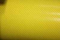 Пленка карбон 3D carbon желтая
