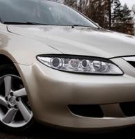 Накладки на фары (реснички) Mazda 6 2002-2007