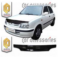 Дефлектор капота - мухобойка Nissan March 1999