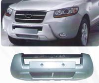Накладка на передний бампер Hyundai Santa Fe 2007+