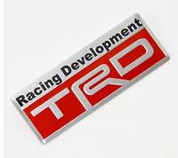"""Шильд - эмблема алюминиевая Toyota """"TRD"""""""