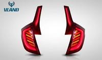 Стопы диодные тюнинг Honda Fit 2013+ красные #2