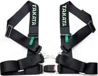 """Спортивные ремни безопасности Takata 3"""" 4 точки черные (стандартная застежка)"""