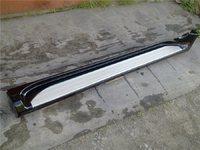 Пороги (подножки) Toyota Land Cruiser Prado 120 черные - светлая площадка