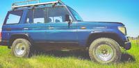 Фендера - расширители колесных арок Toyota Land Cruiser 79 (LLDPE)