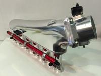 Коллектор впускной (фрезерованный) Toyota 2JZ-GTE c дросселем 90мм и топливной рейкой