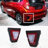 Стопы - фонари (катафоты) в задний бампер LED Honda FIT 2013+ (4 режима)