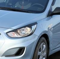 Накладки на фары (реснички) Hyundai Solaris (седан) 2010-2013