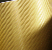 Пленка карбон 3D carbon золотая