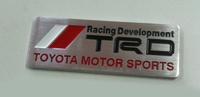 """Шильд - эмблема алюминиевая Toyota """"TRD"""" #2"""