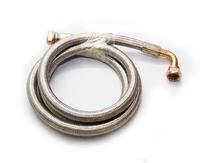 Шланг армированный для подключения масляного радиатора AN10 0гр+90гр 1000мм