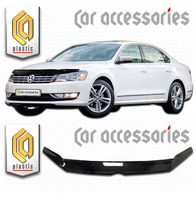 Дефлектор капота - мухобойка Volkswagen Passat седан 2011+