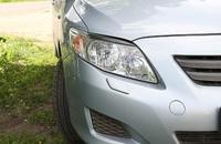 Накладки на фары (реснички) Toyota Corolla Sd 2007 - 2010