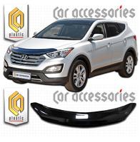 Дефлектор капота - мухобойка Hyundai Santa Fe 2012+