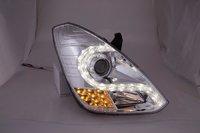 "Тюнинг оптика (фары) Hyndai Grand Starex / H-1 2007+ ""Audi R8 style"" Ver2 (chrome)"