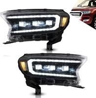 Фары тюнинг 3 линзы Ford Ranger 2015+ динамический повротник