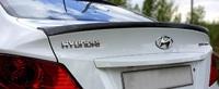 """Козырек """"Sport"""" Hyundai Solaris 2010-2017"""