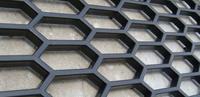 Сетка тюнинг в бампер крупная (черная)