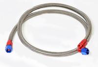 Шланг армированный для подключения масляного радиатора AN10 0гр+90гр 1400мм (фитинги алюминий)