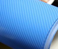 Пленка карбон 3D carbon синяя
