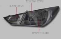 Стопы (фары) «BMW Style» для Hyundai Sonata YF i45 (темные)