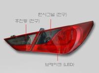 Стопы (фары) «BMW Style» для Hyundai Sonata YF i45 (красные)