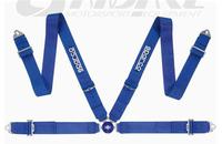 Спортивные ремни безопасности Sparco 76мм 4 точки синие