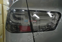 Стопы (фары)  LED «BMW F-series Style» для Kia Cerato Forte Sedan (дымчатые, хром)