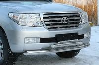 Защита заднего бампера - (дуга) Toyota Land Cruiser 200 #2