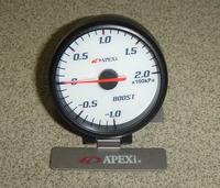 Датчик Apexi boost (давление турбины) белый