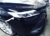 Реснички - накладки на фары Toyota Camry V70 (стекловолокно)