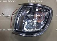 Габариты тюнинг Nissan Terrano R50 хром белые