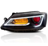 "Фары тюнинг Volkswagen Jetta/Sagitar 2011-2014 динамический поворотник ""Daemon eye"""