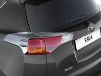 Хром накладки - реснички на стопы Toyota Rav4 2013-2015