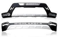 Диффузор переднего и заднего бампера Toyota Highlander 2010-2013