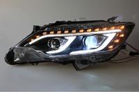 Тюнинг оптика - фары на Toyota Camry V50/55 2015 стиль Mercedes