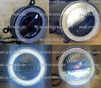 Туманки LED 3 режима #2 (глазки, желтый и белый свет) Suzuki, Honda, Subaru, Mitsubishi