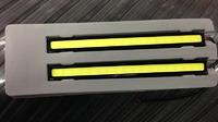 Ходовые огни DRL светодиодные тонкие (черные)