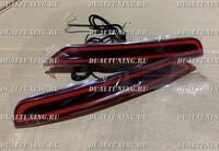 Катафоты дополнительные стопы фонари в бампер Subaru Forester SH SJ красные (2 режима)