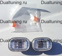Поворотники в крыло Toyota Runx / Allex 2001-2006 (хрусталь)