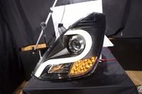 "Тюнинг оптика (фары) Hyndai Grand Starex / H-1 2007+ ""Audi R8 style"" Ver1 (black)"