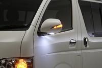 Зеркала электрические Toyota Hiace Lexus Style (хром)