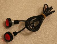 Ходовые огни точечные круглые красные (на резьбе)