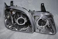 Фары (оптика) с ангельскими глазками Toyota Land Cruiser Cygnus линза