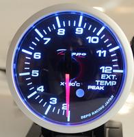 Датчик DEPO 52мм EGT (температура выхлопных газов) с варнингами и пиками