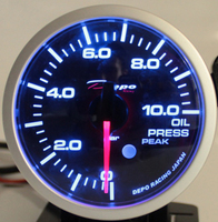 Датчик DEPO 52мм oil press (давление масла) с варнингами и пиками